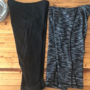 2 pair Zella cropped legging! (M)